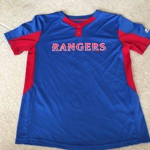 Texas Rangers Baseball Jersey Blue/Red #1 - L